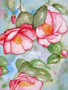 watercolor paintings of flowers | Pink Flower Watercolor Painting Pictures