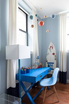 This entire boys room rocks. I love all the blue.