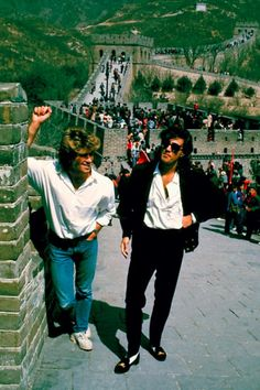 In 1985, George Michael Played the First Western Pop Concert in Beijing. Here Are 30 Rare Photographs of Wham! in China