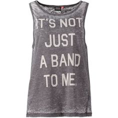 ONLY ILENA Top and other apparel, accessories and trends. Browse and shop related looks. Band Merch, Band Shirts, Grey Tank Top, Grey Top, Band Outfits, Cool Outfits, Summer Outfits, Only Shirt, Collar Shirts
