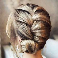 Bridal Hairstyles With Braids, Very Easy Hairstyles, Elegant Hairstyles, Loose Hairstyles, Latest Hairstyles, Summer Hairstyles, Braided Hairstyles, Wedding Hairstyles, Hairdo Wedding