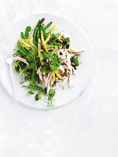 almond milk-poached chicken salad from donna hay fresh + light magazine issue Real Food Recipes, Healthy Recipes, Chicken Breast Fillet, Poached Chicken, Avocado, Chicken Salad Recipes, Salad Chicken, Salad Bar, Almond Milk