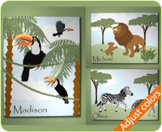 Jungle Safari Theme Wall Art
