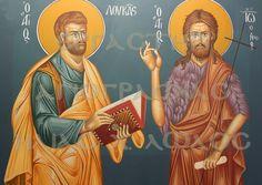 Άγιος Λουκάς, Ιωάννης Πρόδρομος Byzantine Icons, Religious Art, Painting, Paintings, Draw, Hymn Art, Drawings