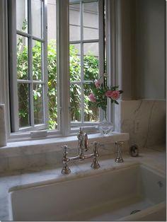 sink, window, faucet