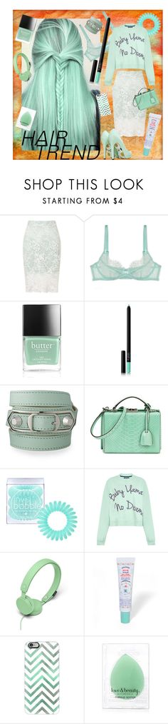 """""""Minty Fresh"""" by rachael-aislynn ❤ liked on Polyvore featuring beauty, Miss Selfridge, L'Agent By Agent Provocateur, Butter London, NARS Cosmetics, Balenciaga, Mark Cross, Invisibobble, House of Holland and Urbanears"""