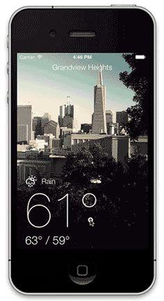 iOS 7 Best Practices; A Weather App Case Study: Part 1/2