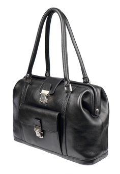 """Bobby"" Schultertasche mit Steckschloss im Lux-Leder black Bobby, Pretty, Beautiful, Black, Style, Fashion, Fashion Styles, Handbags, Swag"