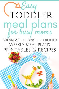 Use this easy toddler meals planning kit to quickly plan meals for your whole family, picky toddlers included! You'll get meal planning printables. Easy Toddler Meals, Toddler Lunches, Kids Meals, Toddler Food, Easy Meals, Family Meals, Easy Healthy Recipes, Baby Food Recipes, Delicious Recipes