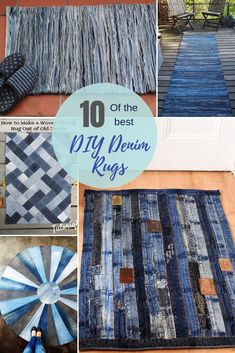 How To Make A Blue Jean Rug, 11 Unique Ways 10 the most unique and coolest upcycled blue jeans rugs. There is more than one way to upcycle and repurpose your old denim into a blue jean rug. Here are 10 unique denim rug tutorials. How To Make A Blue Jean … Artisanats Denim, Denim Rug, Denim Quilts, Jean Crafts, Denim Crafts, Art Crafts, Upcycled Crafts, Repurposed, Diy Kleidung Upcycling