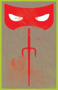 Teenage Mutant Ninja Turtles / Raphael by onelovedesignpmc on Etsy, $21.00
