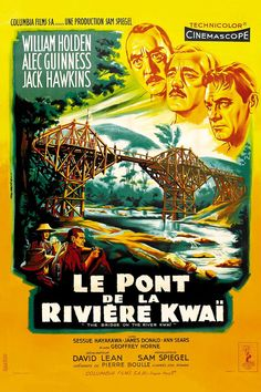 Réalisé par David Lean (1957) Movies To Watch Free, Good Movies, Sessue Hayakawa, Pierre Boulle, Roman, David Lean, Alec Guinness, Youtube S, Posters