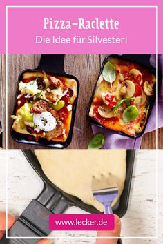 Pizza-Raclette – so geht's richtig Pizza raclette – that's how it's done – from the # raclette grill is the highlight at Years! Pizza Raclette, Raclette Recipes, Fondue Recipes, Pizza Recipes, Raclette Ideas, Raclette Party, Egg Recipes, Paleo Recipes, Free Recipes