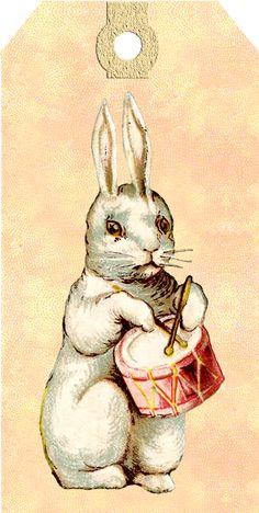 Wings of Whimsy: Easter Bunny Vintag Tag - Lot de 6 unités différentes - gratuit pour un usage personnel #vintage #easter #ephemera #freebie #printable #easter