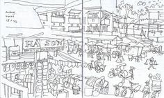 The hustling and bustling in front of the five storey covered market.  I was waiting on the steps, while my wife went in for shopping.  Meanwhile I killed the time by starting this sketch.  My wife got lost in the labyrinth of the market, so I had plent http://phongthuyvadoisong.com/  http://phongthuyvadoisong.com/14320/San-Pham/ho-lo-ngoc-phong-thuy.htm