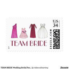 TEAM BRIDE Wedding Bridal Party Dress Stamps
