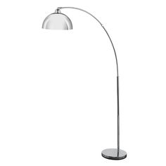 Brilliant Lighting - Large arc floor lamp in bright chrome with an adjustable head and a solid and heavy base. Funky Floor Lamps, Arc Floor Lamps, Adjustable Floor Lamp, Contemporary Floor Lamps, Lighting System, One Light, Chrome Finish, Modern Lighting, Polished Chrome