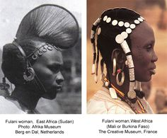 mali african the dress of the women | Creative Museum: Fulani Hair Ornaments and Jewelry | Barbaraanne's ...