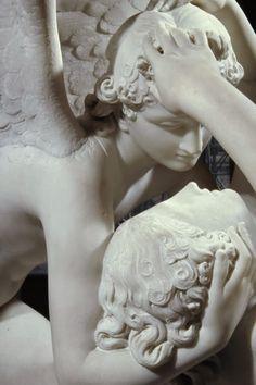 Eros y Psique, Antonio Canova, Museo del Louvre , París    Grupo escultórico realizado por Antonio Canova  (1757-1822), en mármol, entre ...