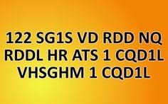 Can you decrypt hidden message (122 SG1S VD RDD NQ RDDL HR ATS 1 CQD1L VHSGHM 1 CQD1L)?
