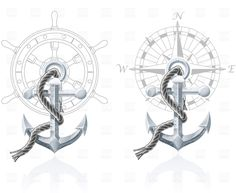 Nautical emblems with anchor, Transportation, download Royalty ...