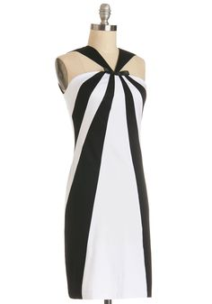 Number One Stunning Dress. When you receive your next soiree invite, consider showcasing this black and white dress by Marmalade!  #modcloth