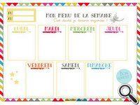 Modèles de menus de la semaine vierges à imprimer. Sélection de blogs | Recettes.box