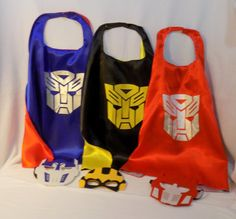 Transformer cape and mask. Bumble Bee cape by LollipopLucyCostumes