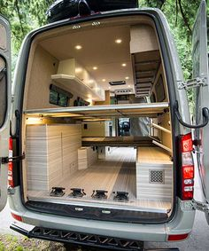 Valhalla Mercedes Benz Sprinter motorhome from outside van … – Camping - Auto Mercedes Sprinter Camper, Motorhome Sprinter, Van Conversion Interior, Camper Van Conversion Diy, Stealth Camper Van, Vw Crafter, Kombi Home, Sprinter Van Conversion, Ford Transit Conversion