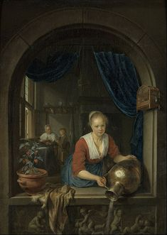 File:Gerard Dou - Maid at the Window - Google Art Project.jpg - Wikimedia Commons