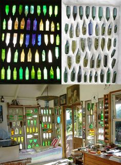 Glass bottle walls