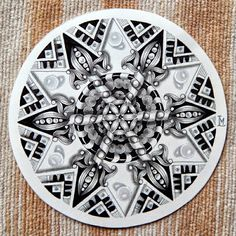 Zendala by lily's tangles Tangle Doodle, Tangle Art, Zen Doodle, Doodle Art, Zentangle Drawings, Doodles Zentangles, Doodle Drawings, Doodle Patterns, Zentangle Patterns
