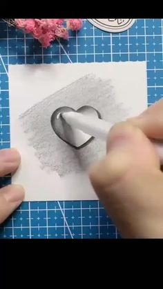 3d Pencil Drawings, 3d Art Drawing, Art Drawings Sketches Simple, Heart Drawings, Heart Sketch, Girl Sketch, Doodle Art Designs, Art Drawings Beautiful, Diy Canvas Art