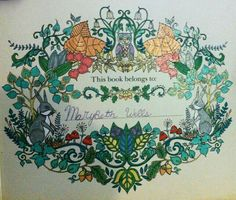 Enchanted Forest Coloring Book Johanna Basford By Marybeth