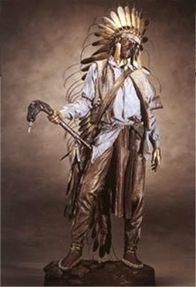 American Horse Warrior Series  Masterwork Bronze with patina & paint,   sculpted in 1992. Dave McGary