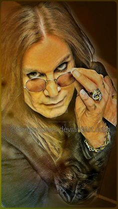 Oh my God, I love this image of Ozzy! Celebrity Caricatures, Celebrity Drawings, Heavy Metal Music, Heavy Metal Bands, Rock Artists, Music Artists, Pink Floyd, Ozzy Osbourne Quotes, Hard Rock