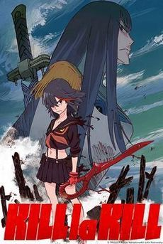 Kill La Kill . Ryuko Matoi, a student wielding half of a scissor-shaped longsword, transfers to Honnouji Academy in search of the owner of the other half of the scissor blade, the person who killed her father. Defeated by the council after interrogating Satsuki over the killer's identity and whereabouts, Ryuko comes across a sentient sailor uniform she names Senketsu, who puts himself on Ryuko.