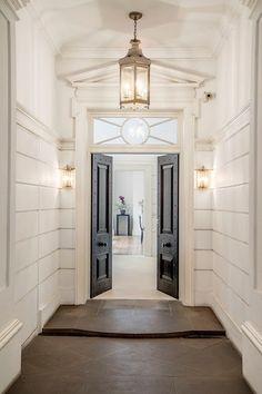 Door, lantern