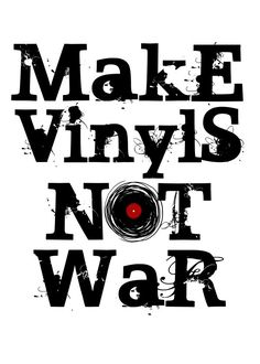 vinyl record records peace text typography war music dj deejay sound love musical poster soul Text art