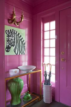 """Paint a small room in a bright lacquer color."" —Amanda Reynal"