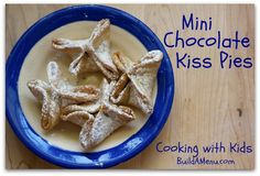 Mini Chocolate Kiss Pies with step-by-step instructions for kids to ...