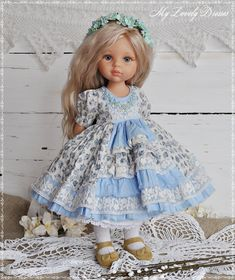 Stunning Dresses, Nice Dresses, Flower Girl Dresses, Doll Clothes Patterns, Clothing Patterns, Dolly Dress, Little Darlings, Vintage Cotton, Baby Sewing