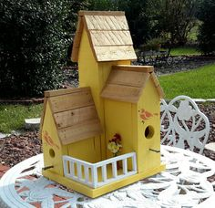 Country Condo Birdhouse by OurVintageNest on Etsy