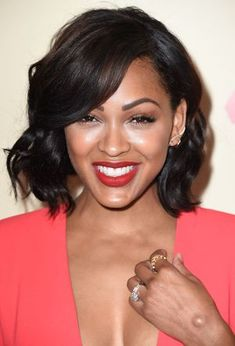 Check out a photo gallery of short, black hairstyles on black female celebrities including Rihanna, NeNe Leakes and more.: Meagan Good