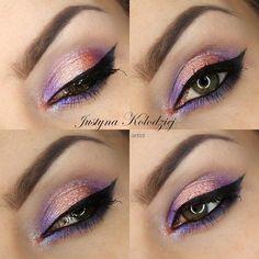 cameleon  #purple #pink #eyemakeup #eyes #blackliner - bellashoot