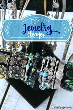 DIY Jewelry Cleaner - Homemade 4 ingredient jewelry cleaner that will remove years of tarnish and make your jewelry sparkle like new!