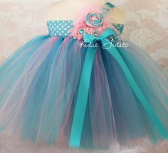 This Cotton Candy Tutu Dress is perfect for 1st birthday, I just need it in red and white