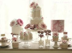 Shabby Chic, Vintage Sweet Table