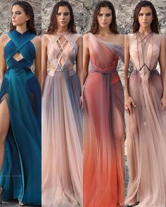 1 2 3 or 4 ? dresses by . Ball Dresses, Ball Gowns, Evening Dresses, Prom Dresses, Bridesmaid Dresses, Wedding Dresses, Beautiful Gowns, Beautiful Outfits, Elegant Dresses