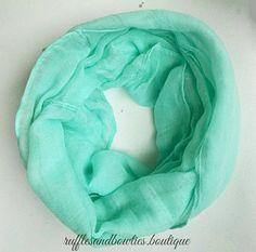 Girls Aqua Scarf - baby infinity scarf - kids scarf - baby scarf - kids scarf - infinity scarf - BABY INFINITY Scarf - childrens scarf